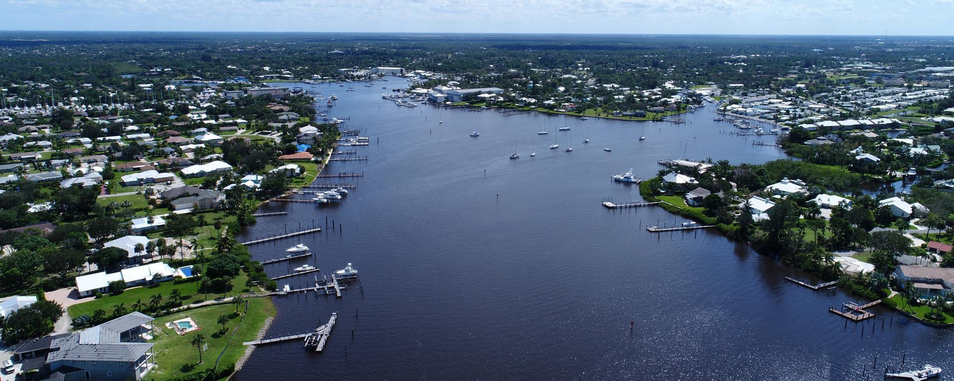 Aerial image above the Manatee Pocket