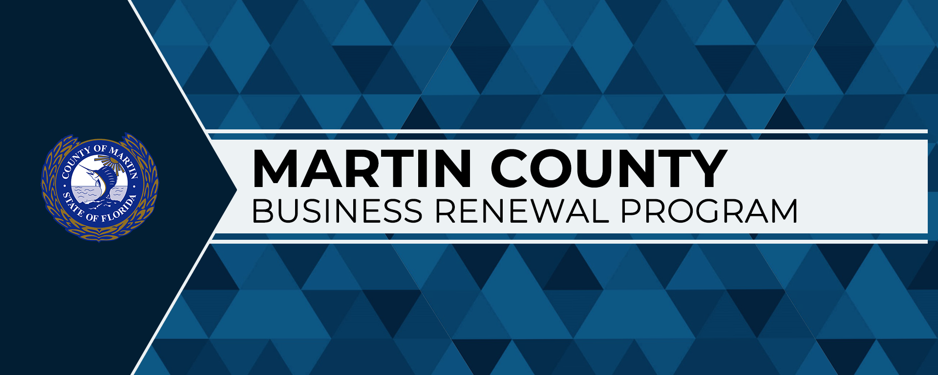 Martin County Business Renewal Program with county seal