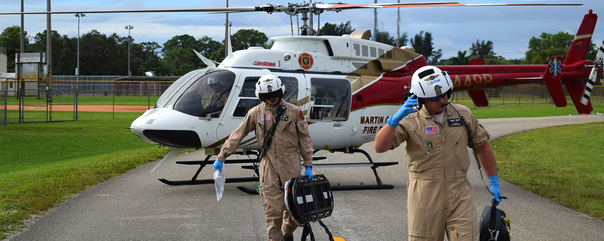 A Martin County Fire Rescue LifeStar Helicopter