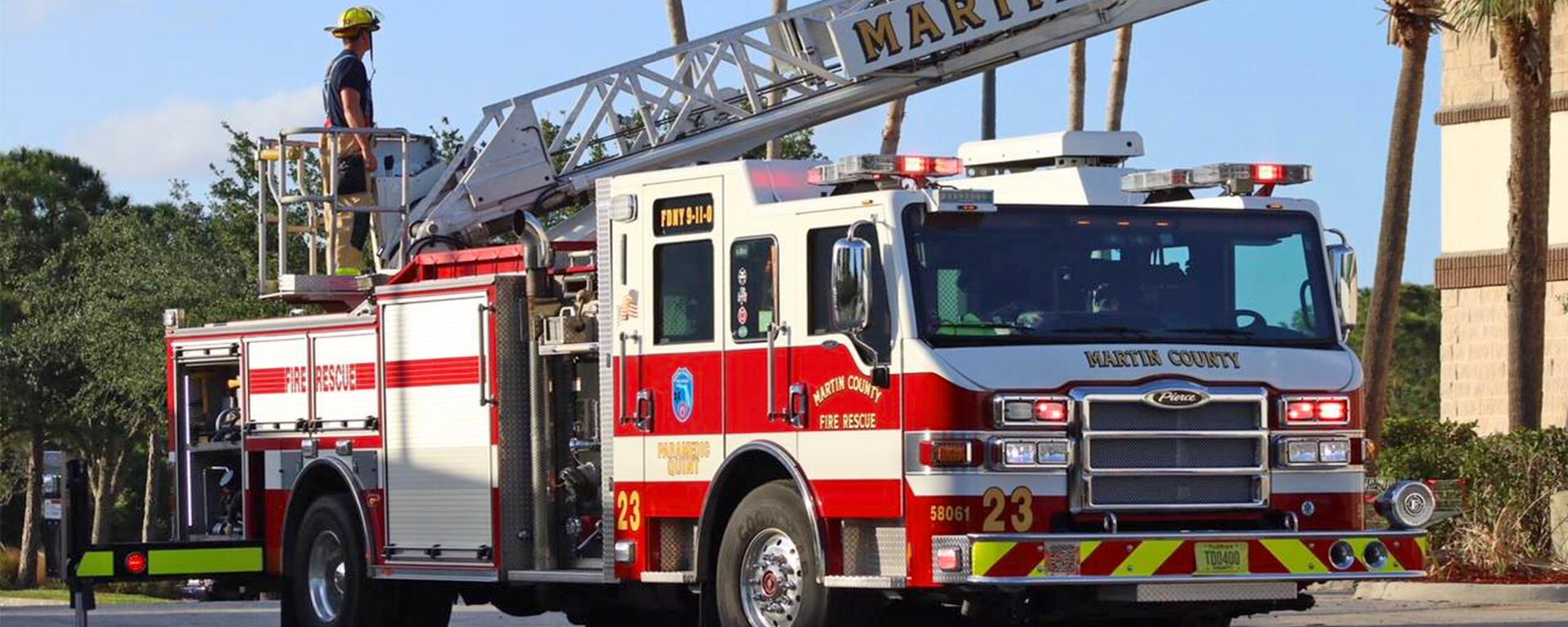 A Martin County Fire Truck