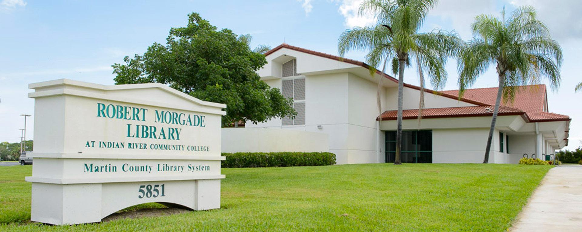 exterior image of the Robert Morgade Library