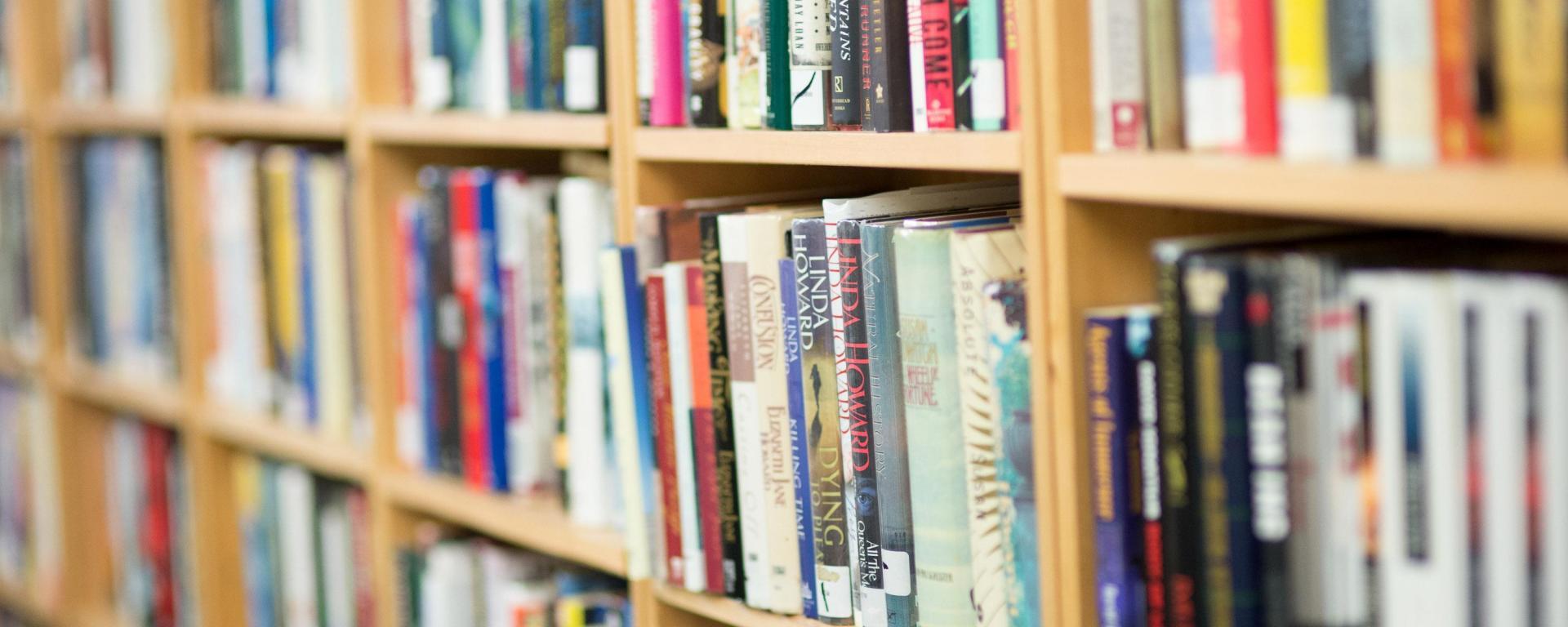 image of books an the sale shelf