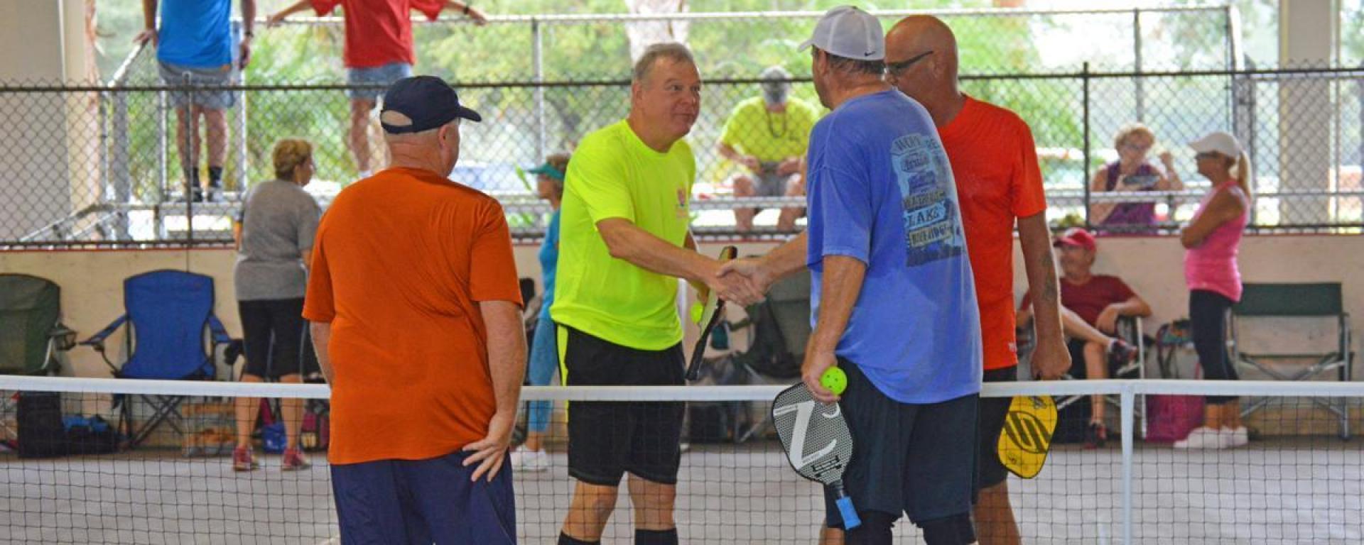 Martin County Senior Games pickleball participants.