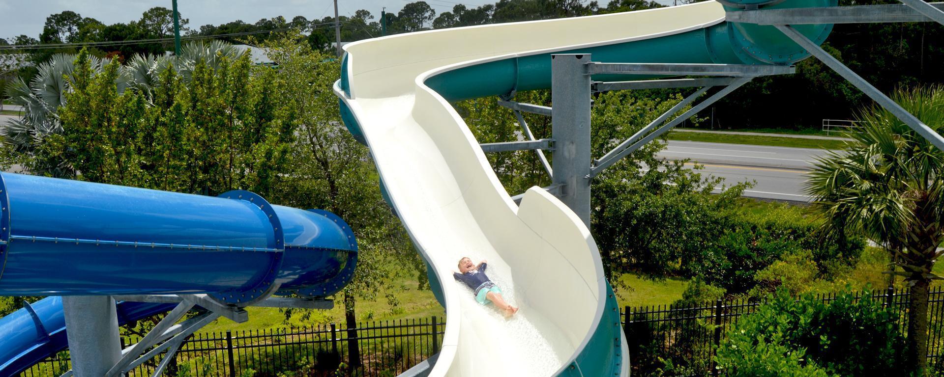 Speed slide attraction