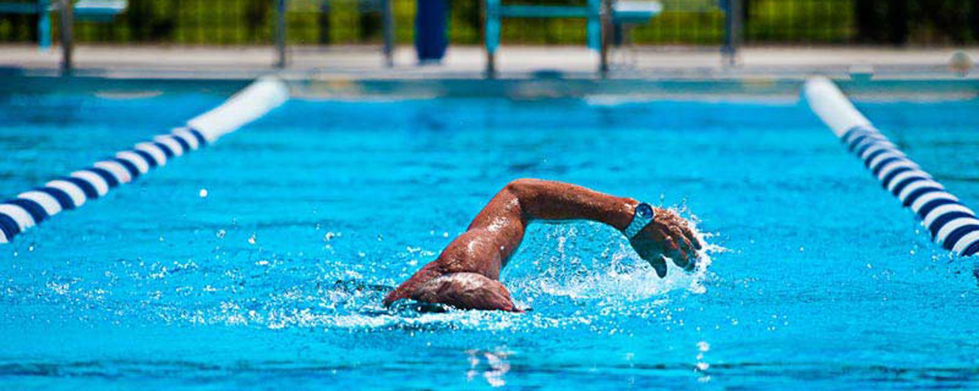 A swimmer at Sailfish Splash Waterpark