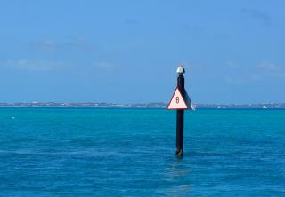 A channel marker