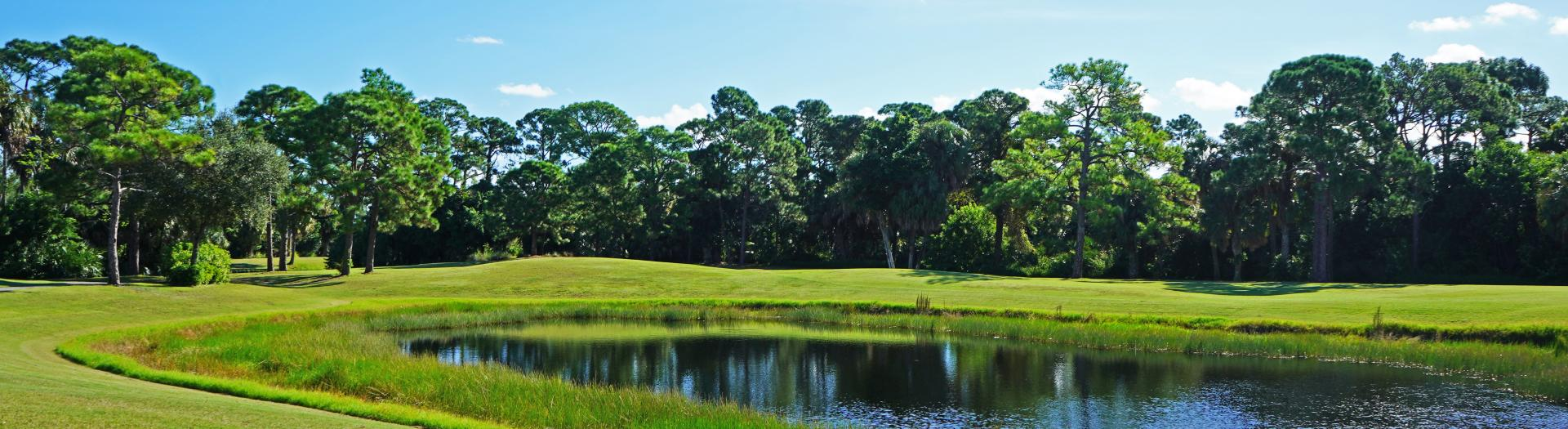 A pond at the Sailfish Sands Golf Course