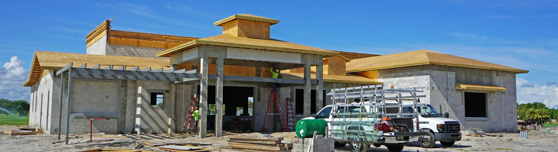 Construction on Front Clubhouse at Sailfish Sands