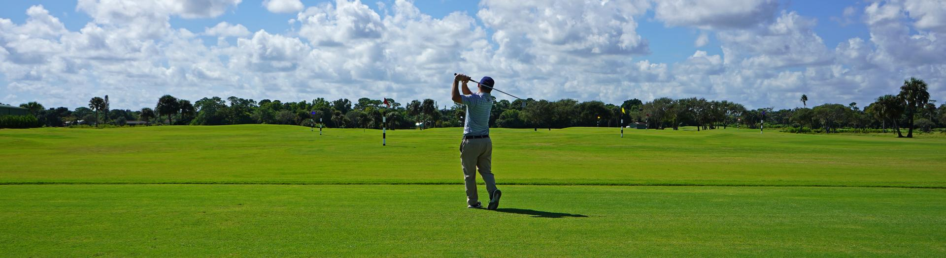 Golfer at the Sailfish Sands Range