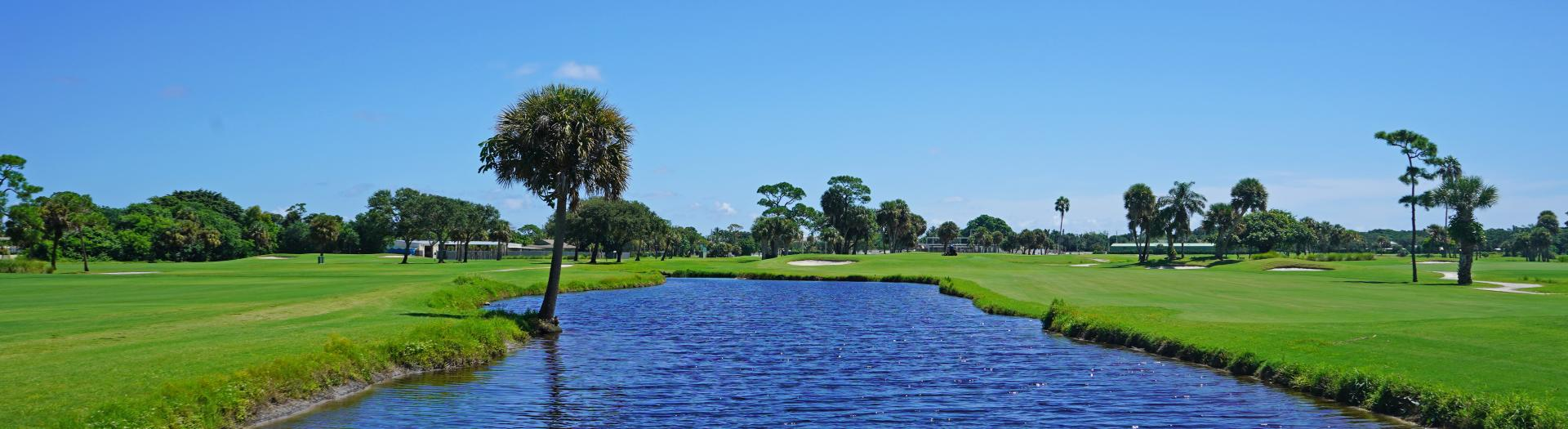 Pond next to Gold #2 on Sailfish Sands Golf Course
