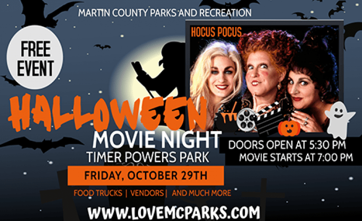 Free Halloween Movie Night at Timer Powers Park