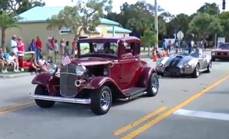 Car in the parade
