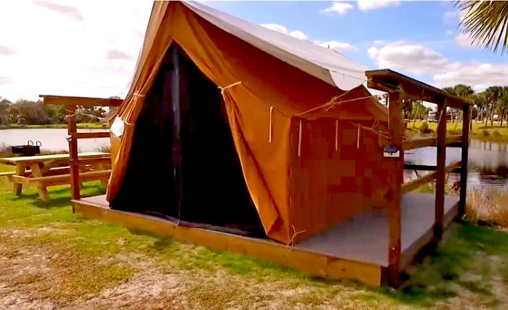 An adventure platform tent at phipps park