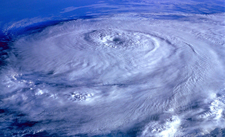 An image of a hurricane