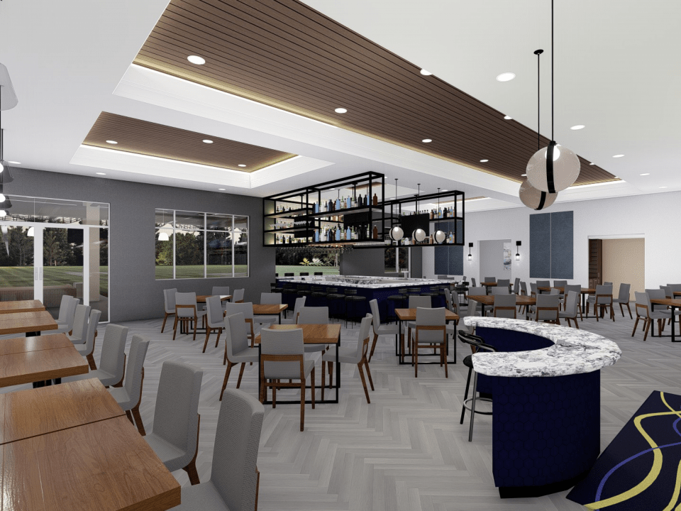 Rendering of dining area