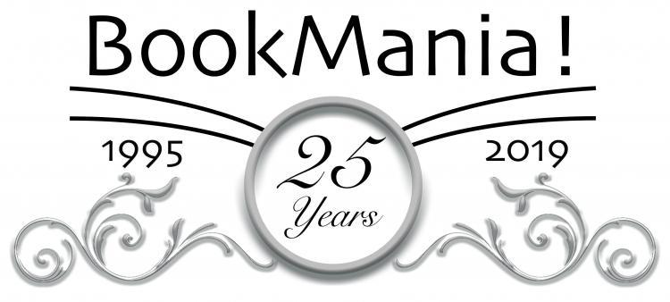 BookMania 25 year anniversary logo