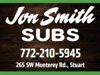 Jon Smith Subs logo 772-210-5945