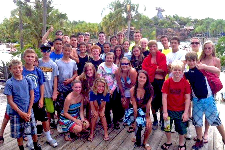 Teens enjoying a Teen Advisory Board outing.