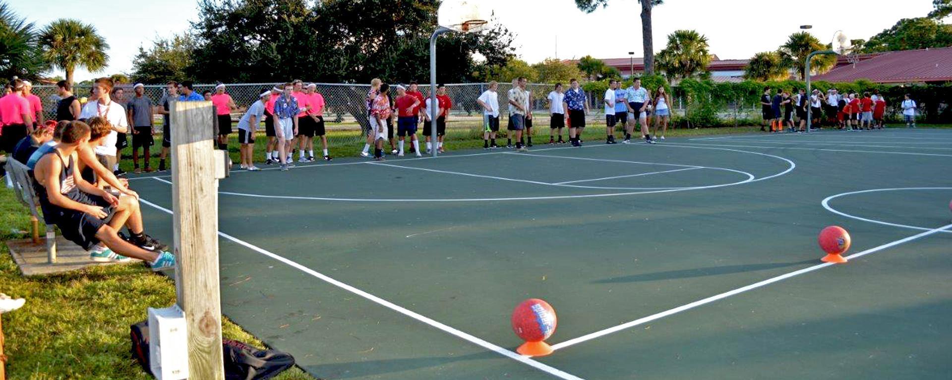 Dodgeball tournament for teens.